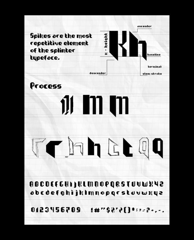 3 fonts: Splinter, Dogshit, Iskele 6