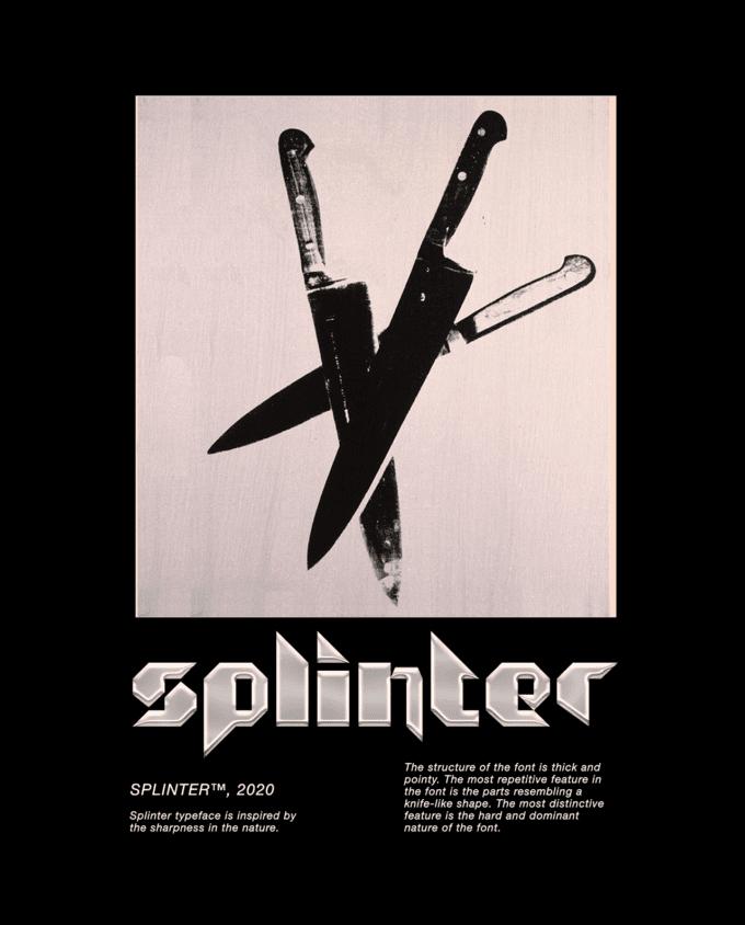 3 fonts: Splinter, Dogshit, Iskele 7