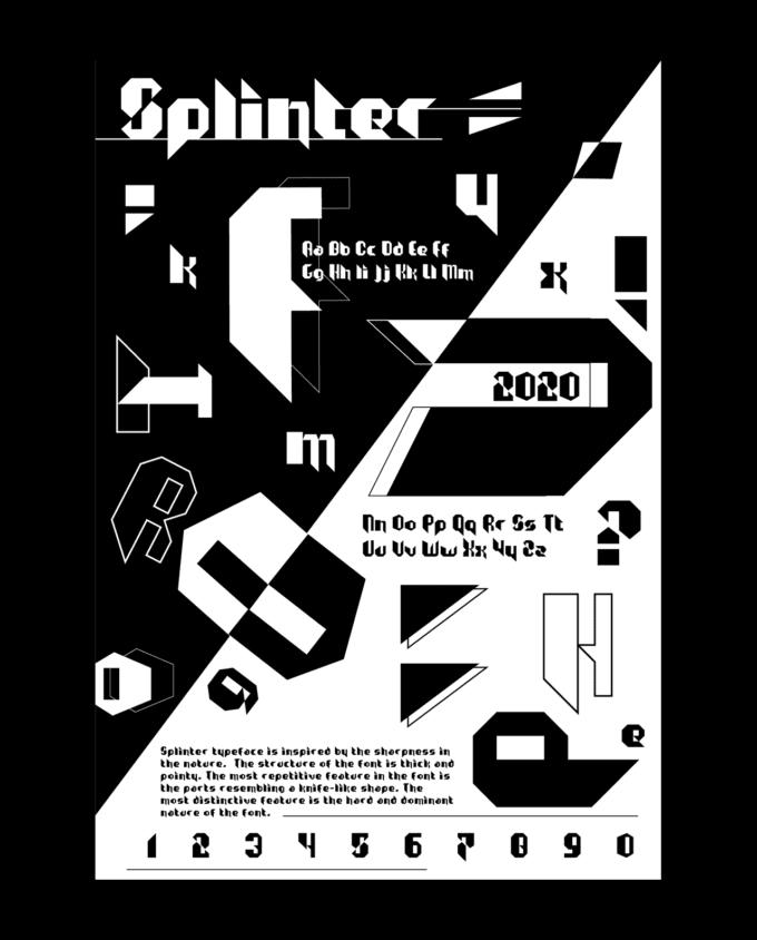 3 fonts: Splinter, Dogshit, Iskele 8