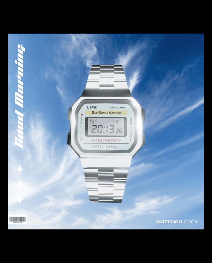 Retro Casio Watch Mockup