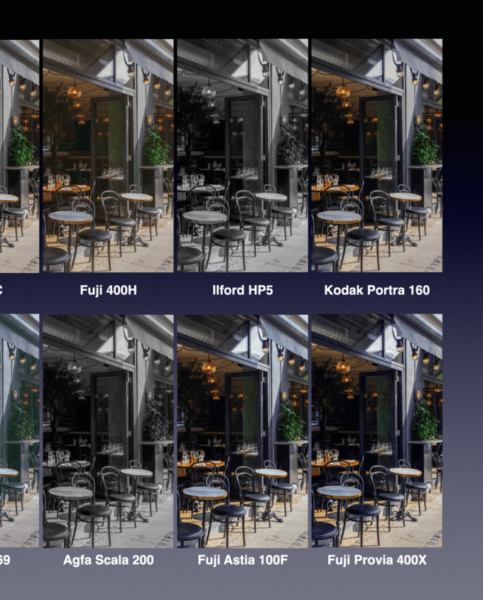 29 Film Color LUTs for Spark AR 2