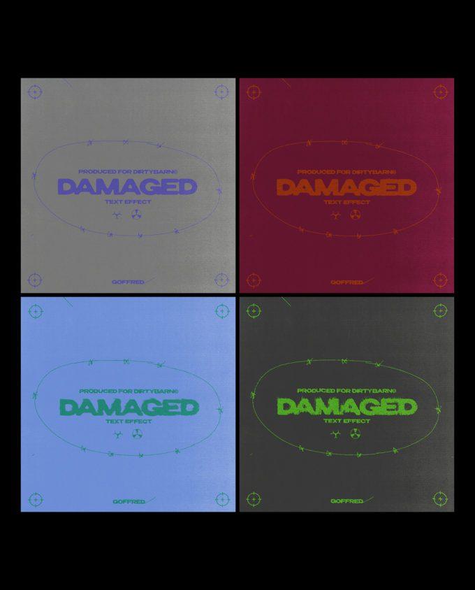 Damaged Text Template 5