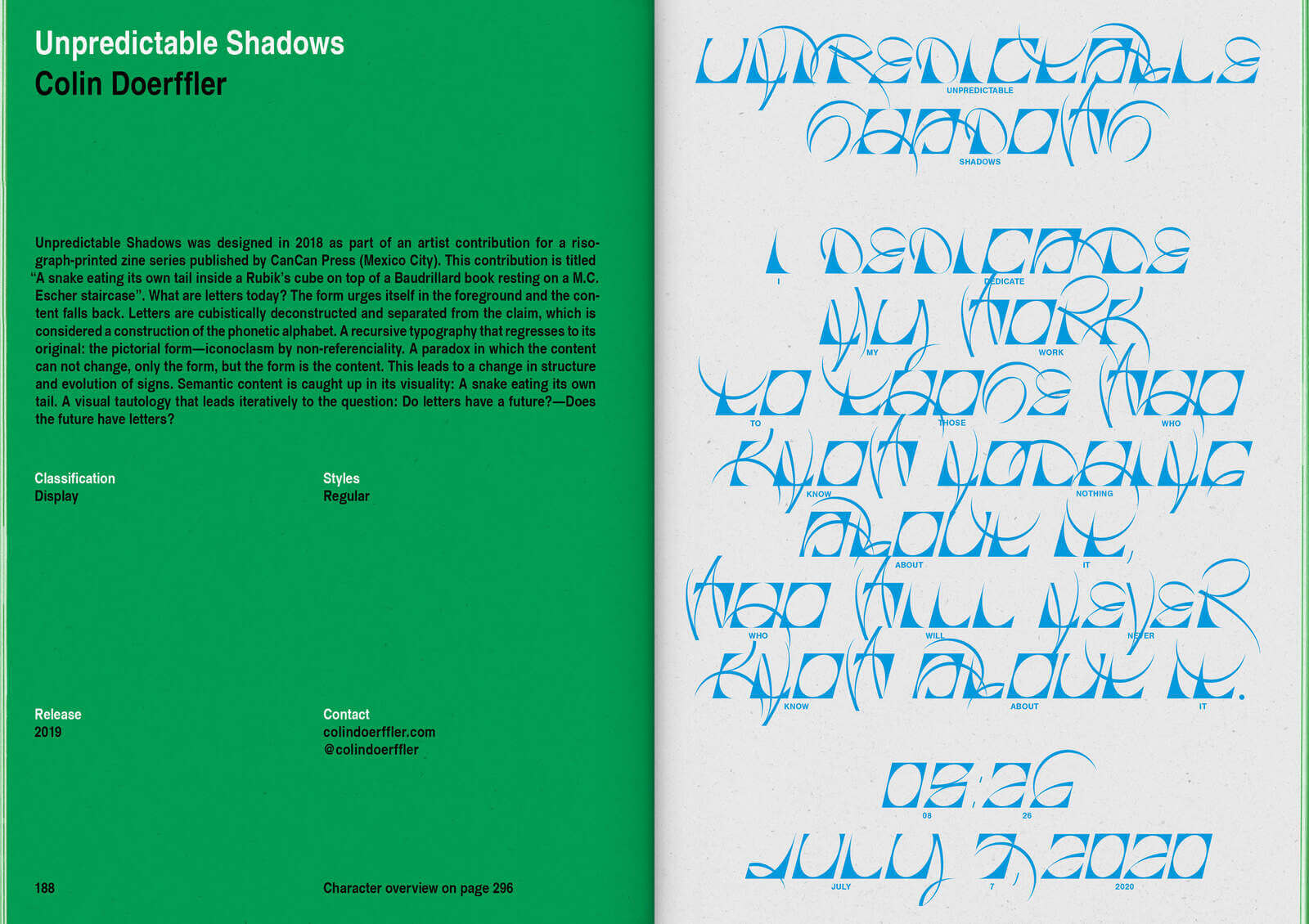 New Aesthetic 2: A Collection of Independent Type Design 10