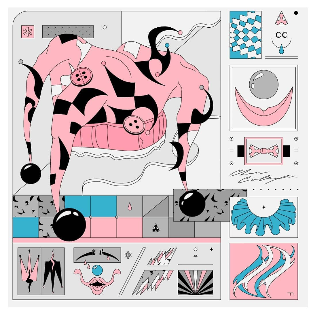 Vladimir Hadzic's Colorful Gridded Compositions 12