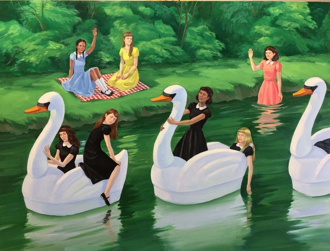 Zoe Hawk's Paintings Celebrate Feminine Identity 5