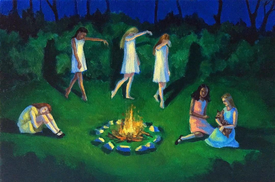 Zoe Hawk's Paintings Celebrate Feminine Identity 10