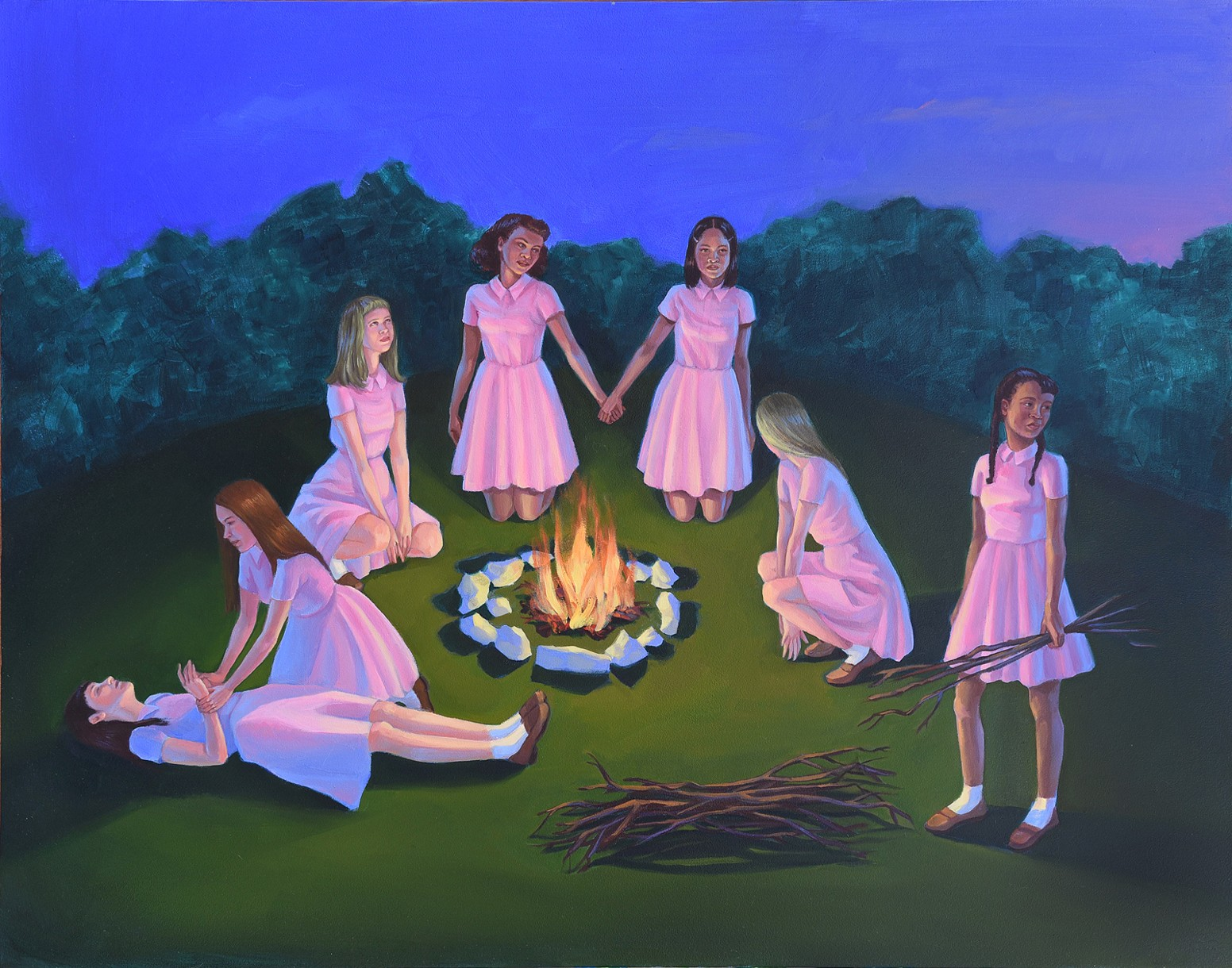 Zoe Hawk's Paintings Celebrate Feminine Identity 9