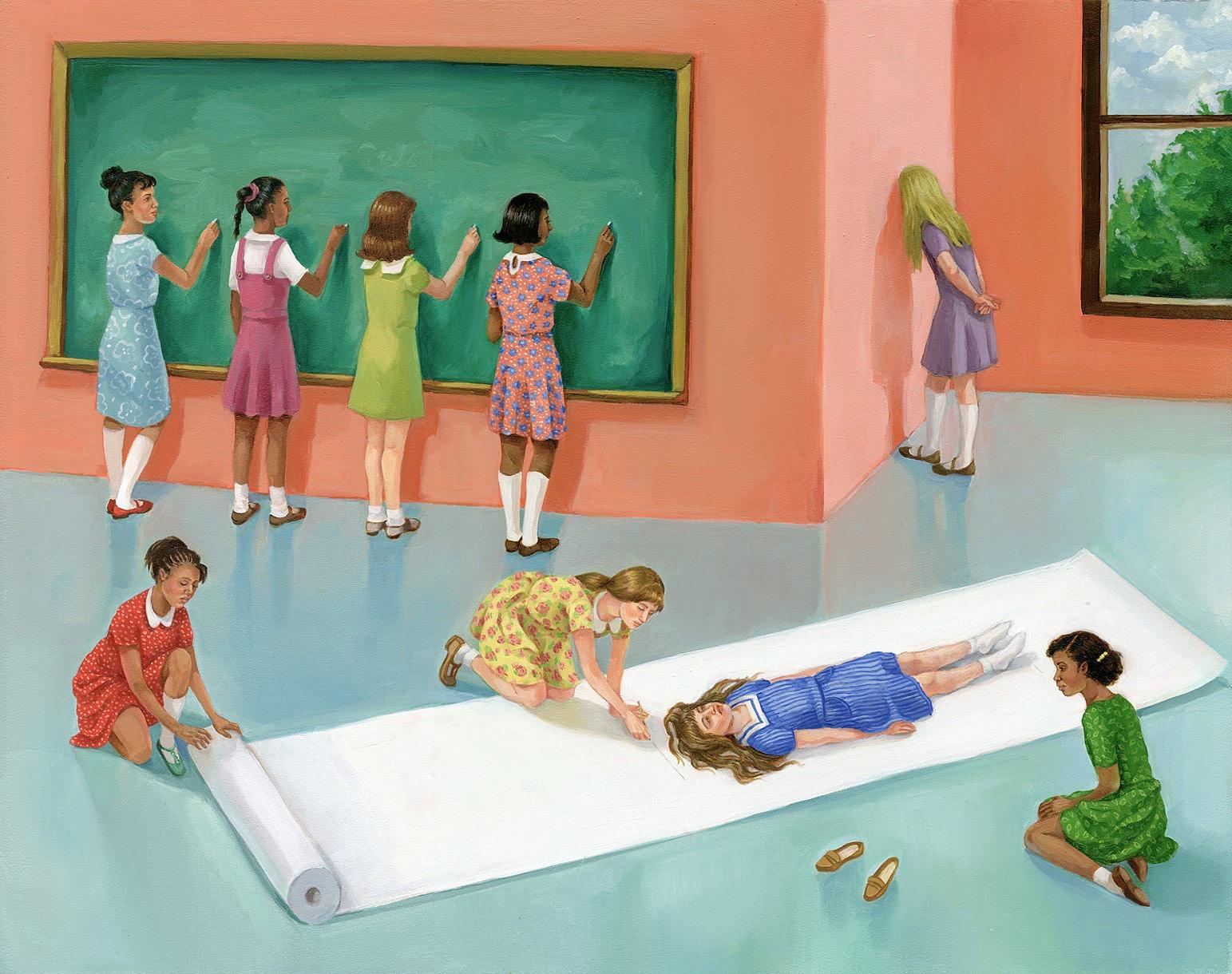 Zoe Hawk's Paintings Celebrate Feminine Identity 18