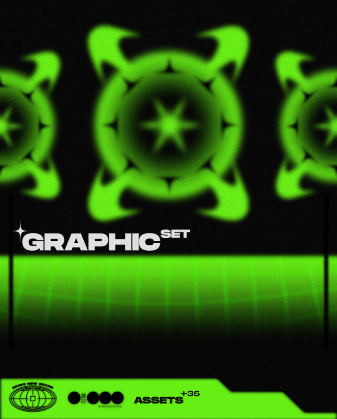Graphics set with 35 pieces 1