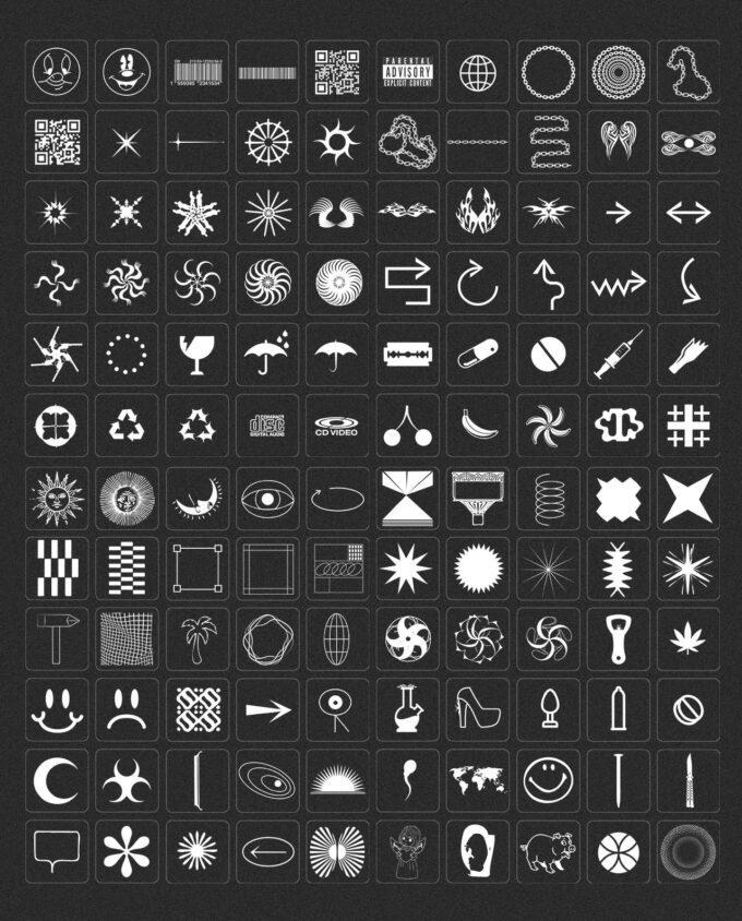 Design Elements Pack: 300 Shapes, 65 Textures 3