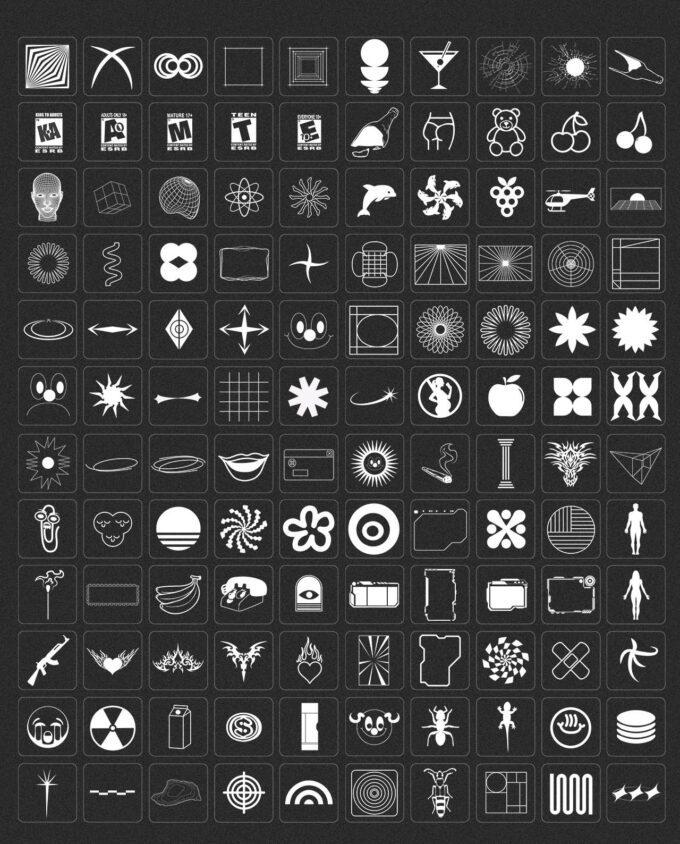 Design Elements Pack: 300 Shapes, 65 Textures 2