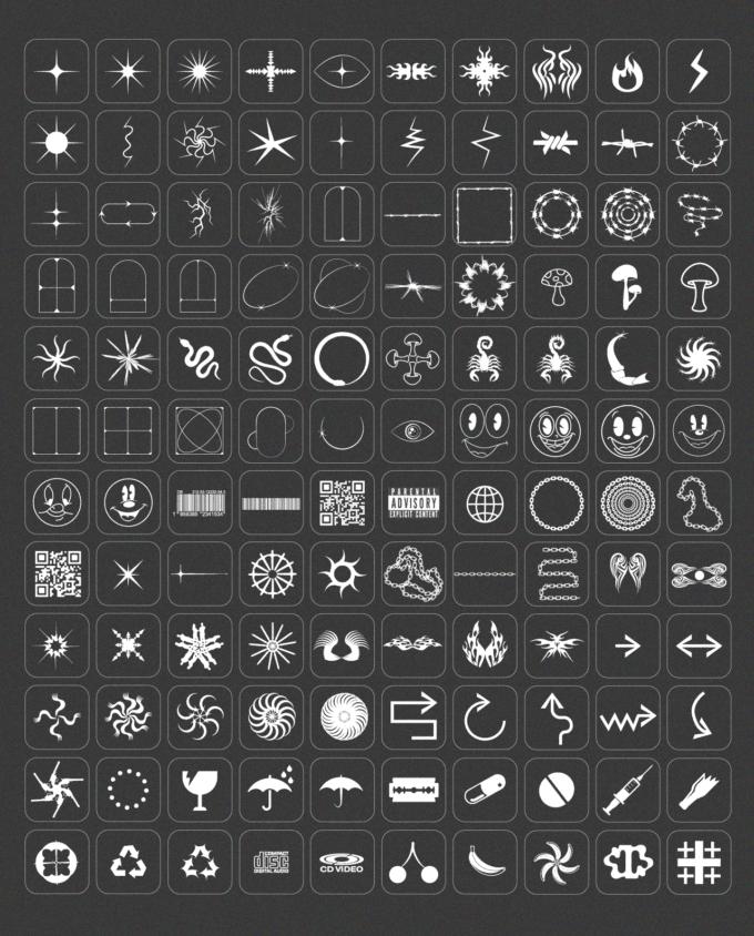 Design Elements Pack: 210 Shapes, 65 Textures 2