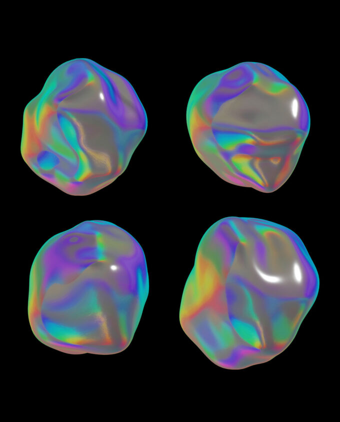 Holographic Materials Pack 9 Videos + 30 PNGs + 8 Background 2