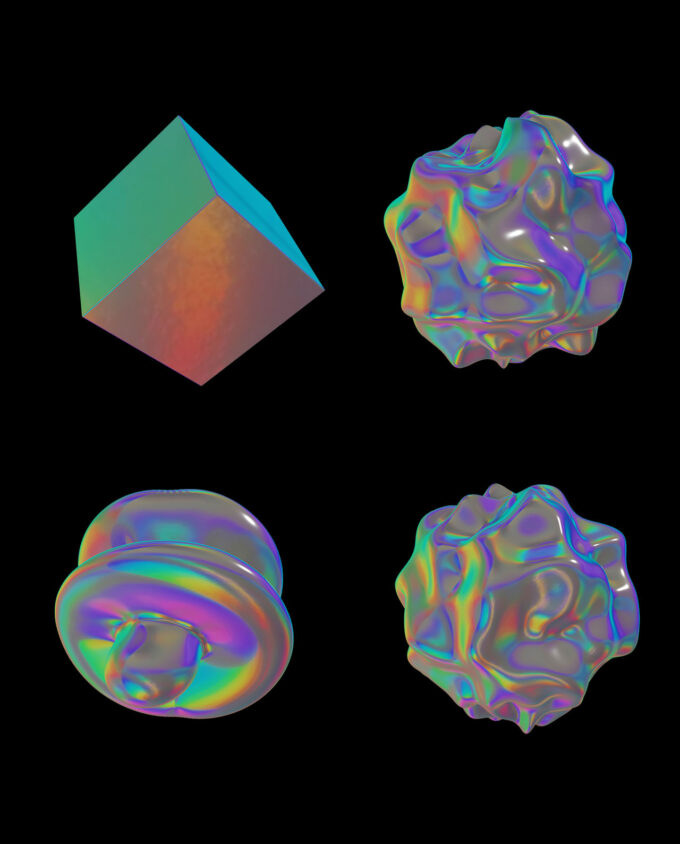 Holographic Materials Pack 9 Videos + 30 PNGs + 8 Background 6